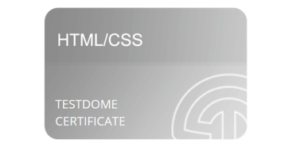 html/css certification badge