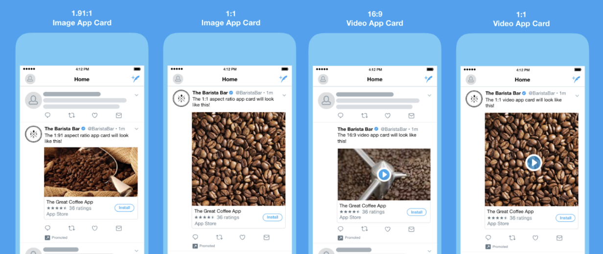 twitter app card examples ad formats