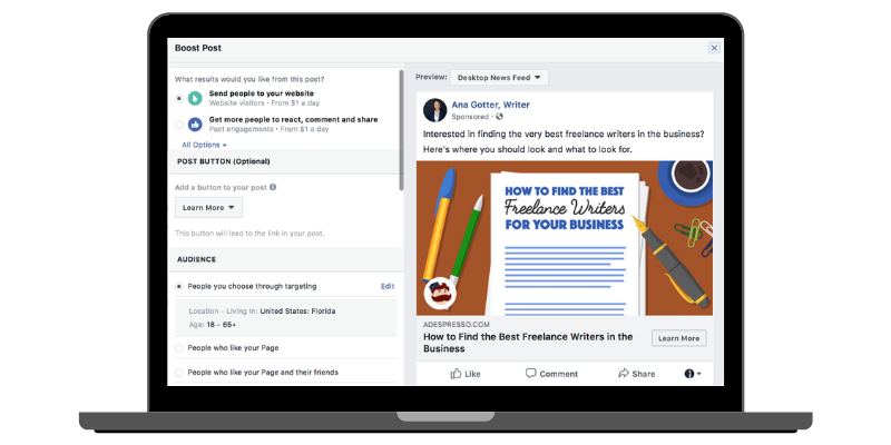 Boosted Posts vs Social Media Ads: Boosting a Facebook Post